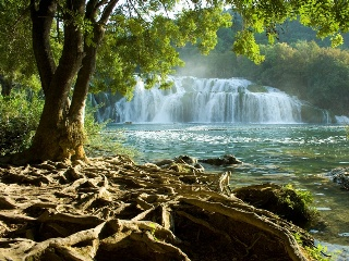 Main attractions of Krka are waterfalls, 17 of them.